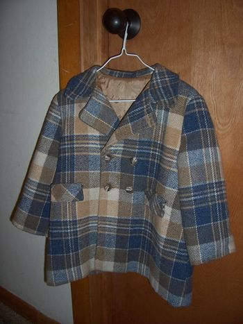 Plaidwoolboycoat